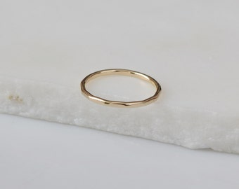 14k Gold Band Solid Gold Band Solid Gold Ring Thin Gold Band Simple Gold Ring