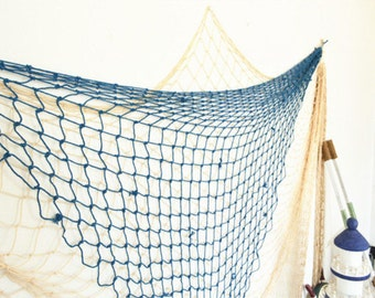 Decorative Fishing Net White / Blue Nauticle Style Beach Scene Party Decoration Home Decor U.S.A. Seller Fast Shipping