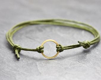 Bracelet Circle Minimal Vegan Freundschaftsamband