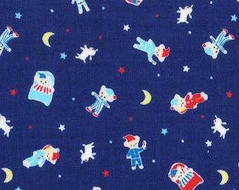 Lecien Fabrics - Minny Muu Fall 2016 Bedtime Bears Navy by Koko Seki