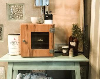 Vintage Medical Sterilizing Cabinet, Vintage Barber, Bathroom Decor, Eclectic Decor, Medical Decor