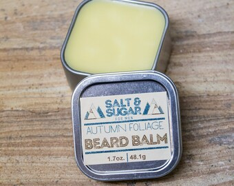 Autumn Foliage Beard Balm, 2 oz, Beard Wax, Beard/Mustache Care, Mens Grooming, Skin Care, Beard Conditioner, Beard Softener