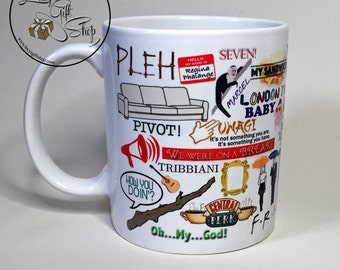Friends Mug - Friends - Best Friends - Gift - Coffee - Unique - Quirky - Funny - Retro - TV Show - Cup - Mug - Tea