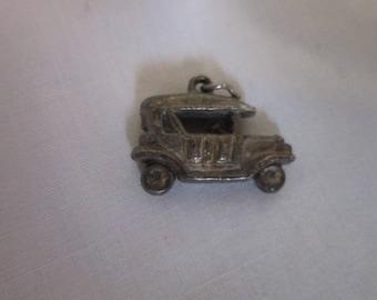 Antique Silver 3D Charm Model T Ford? Car Charm for Charm Bracelet
