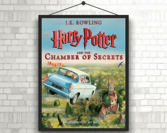 Harry Potter and the Chamber of secrets Book cover poster