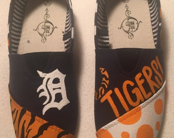 Detroit Tigers Hand Painted Shoes