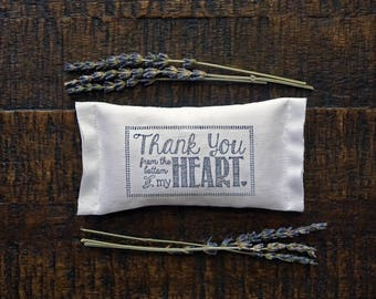 Thank You Lavender Sachet, Best Friend Gift, Thank You Note, Unique Thank You Gift, Gift for Someone You Love, Gift to Say Thank You