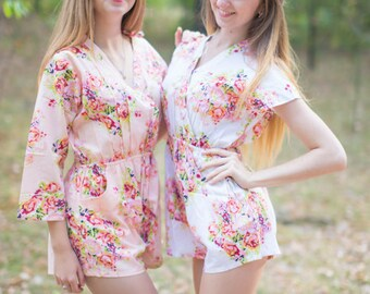 Rompers By Silkandmore - cute getting ready outfit for the wedding day, Alternative to Bridesmaids Robes, Bridesmaids Gifts, Bridal Shower