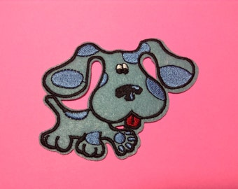 Iron on Sew on Patch:  Blue clues