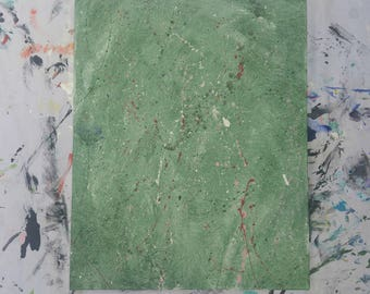 Green Absract Handmade Painting