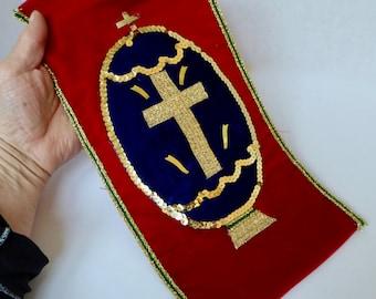 Vintage Knights Templar-Like Alter Piece Wall Hanging