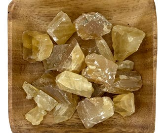 Honey Calcite - Citrine Calcite - Raw Calcite - Natural Calcite - Solar Plexus - Sacral Chakra - Energy Healing - Reiki