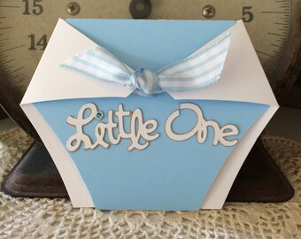 Little One Baby Boy Card