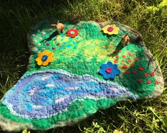 Take Me Home Country Road Double Sided Felted Play Mat