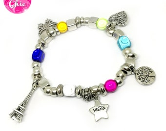 Bracelet silver rainbow