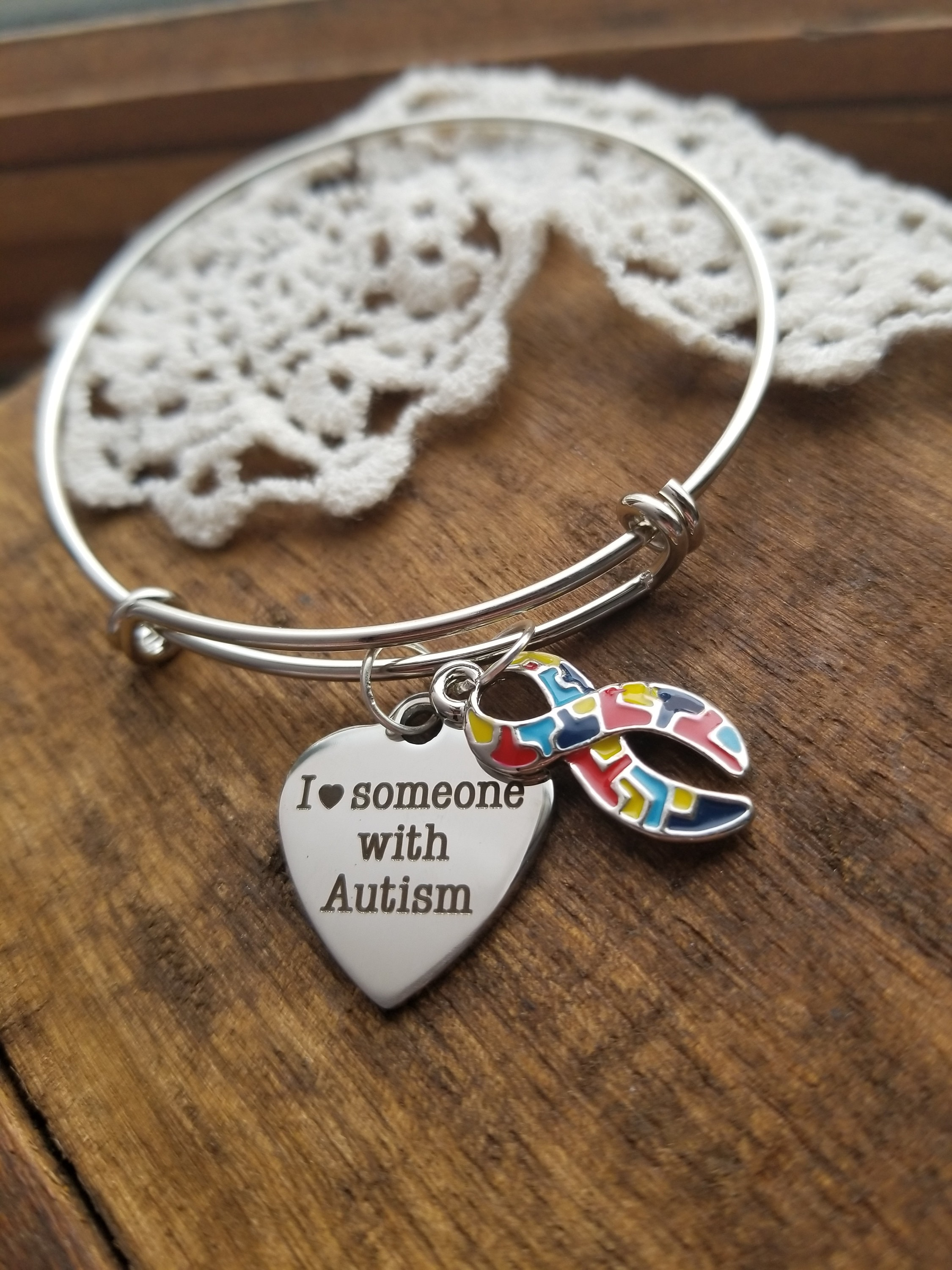 mom awareness autism bracelet jewelry pin