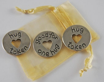 Set of 3 Hug Pocket Pieces with Organza Bag