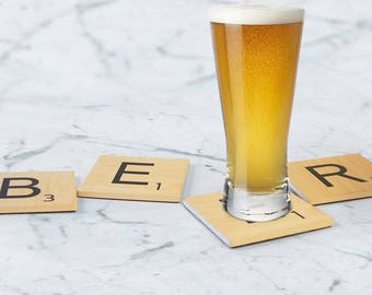 BEER Coaster Set - Stoneware Coasters - Gift for Him - Gift for Her
