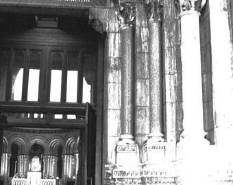 Paris church Sacre Coeur art card