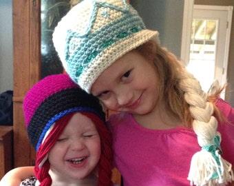 Elsa & Anna Hats