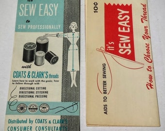 Two 1950s Vintage Coats & Clarks Sewing Guides // Sewing How-To // Sewing Instructions // Vintage Sewing Guides