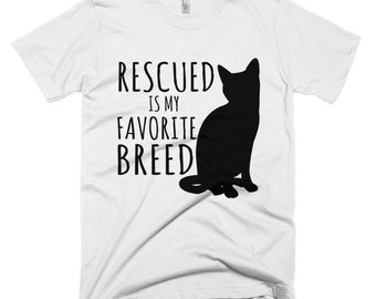 Rescued is my Favorite Breed Cat T-Shirt
