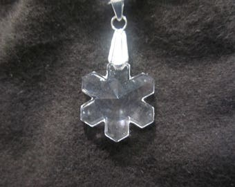 Swarovski Snowflake Pendant 20mm