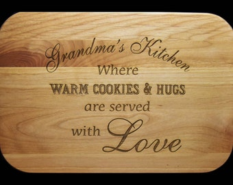 Grandma Gift, Cutting Board, Gifts for Grandma, Grandmas Kitchen