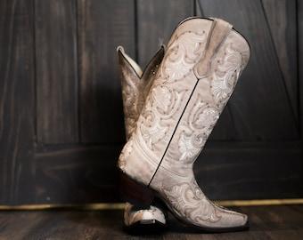 Bridal cowboy boots   Etsy