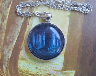 Dark Forest cabachon necklace