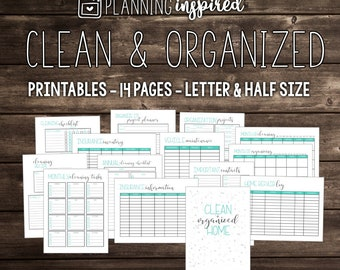 Cleaning Routine Printables, Cleaning Checklist, Cleaning Schedule, Cleaning Planner, House Cleaning Printables, Cleaning Checklists