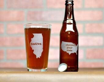 Custom Beer Glass - Custom Pint Glass - Beer Glass - Pint Glass - Groomsmen Gift
