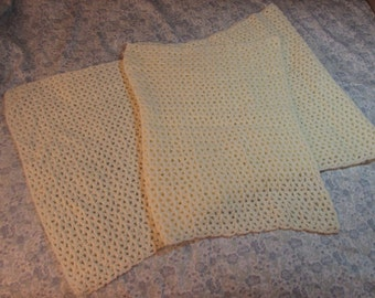 Cream white lacy shawl