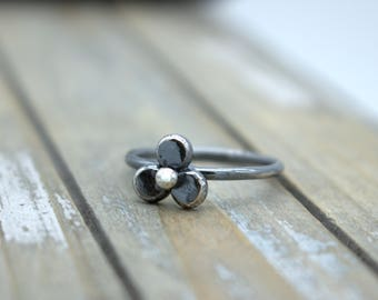 Stacking Ring - Sterling Silver Ring - Flower Ring - Gift for Her - Jewelry Sale