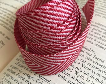 Red/White Chevron Ribbon