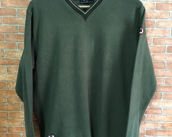 Vintage Van Jack Embroidery Sweatshirt Pullover Jumper Green L