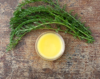 Natural Yarrow Salve, Yarrow Herbal Salve with Tea Tree Essential Oil, Natural First Aid Salve, Herbal Salve, Yarrow, Gluten Free Skincare