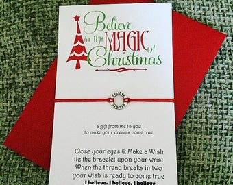 Christmas Gift - Wish String Bracelet - Believe in the Magic of Christmas......