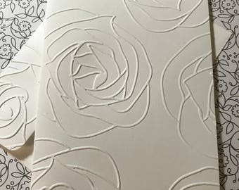Rose Cards~Embossed Flower Note Cards~Flower Tags~Embossed Flower Tags~Flower Gift Tags~Note Cards~Tags~Flower~Rose~Thank You