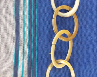 Rattling baby links - all natural, nontoxic from Ankole cow horns