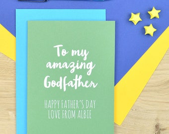 Godfather Father's day card - card for Godfather - Fathers day card for Godfather 17