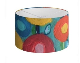 """Floral Lamp Shades """"Barbuda Blooms"""" Limited Edition Print - 40 cm"""