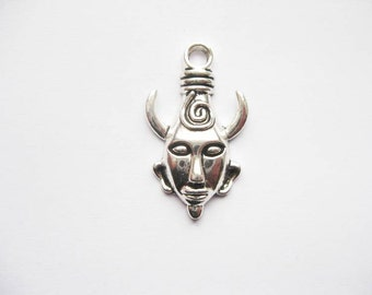6 Supernatural Amulet Charms in Silver Tone - C2081