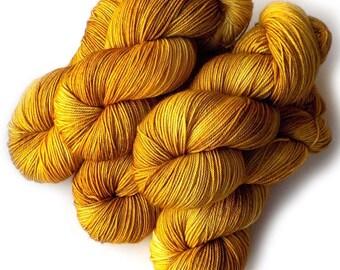 NEW MCN Sock Yarn Handdyed Merino Cashmere Nylon Yarn - Honey