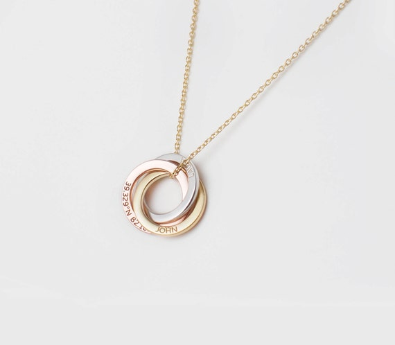 Personalized linked circle necklace custom linked rings personalized linked circle necklace custom linked rings family necklace personalized minimalist necklace engraved jewelry pn41 aloadofball Gallery