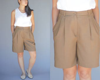 Sag Harbor High Wasisted Pleated Shorts Womens Size 10P 90's Vintage