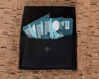 Card Holder, Leather Card Holder, Business Card Case, Leather Card Case, Wallet, Mens Wallet, Leather Card Cases, Leather Wallet - BLACK