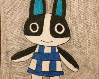 Animal Crossing Dotty Small Drawing