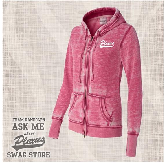Plexus Zip Hoodie, Plexus Ladies Full Zip Hoodie, AskMeAboutPlexus Hoodie, Pink Plexus Hoodie, Super Comfy Plexus Zip Hooded Sweatshirt