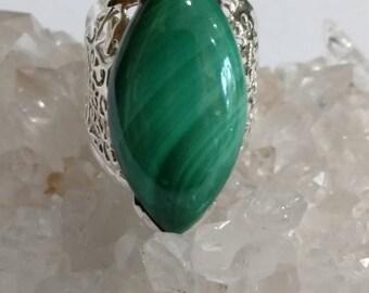 Malachite Ring Size 11